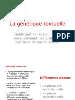 Atelier d'écriture génétique textuelle
