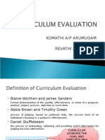 Curriculum Evaluation Slide