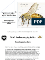 TCAD Beekeeping Ag Policy
