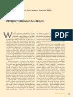 Projekt Prawa o Muzeach