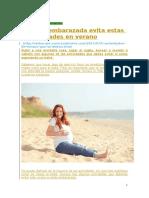 EMBARAZO Y VERNO 5 Actividades a Evitar