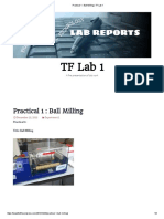 Practical 1 Ball Miling