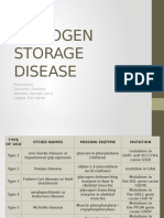 Glycogen Storage Disorders