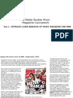 Music Magazine Coursework Task 2 DME analysis