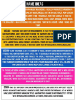Music Magazine Name Ideas