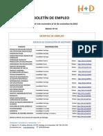 Boletín de Empleo Nº 16 - Fundación H + D