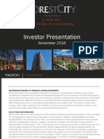 Forest City Realty Trust Investor Presentation - November 2016