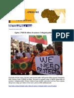 Egitto. UNHCR Rifiuta Di Assistere I Rifugiati Politici Oromo.