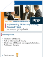 1008 Implementing BI Security Properly With Tip and Tricks