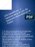 100 RAZONES  PARA REALIZAR ESPACIOS REDUCIDOS SOCCER.pptx