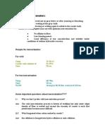 Mercerization Parameters