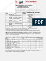 UBRP201617ITSpecilaistOfficerRecruitmentNotification