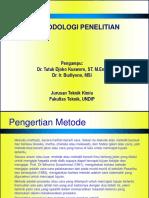 Kuliah Metodologi Penelitian Teknik Kimia Universitas Diponegoro