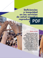 Deficiencias e Inequidad en Los Servicios de Salud Sexual y Reproductiva en España