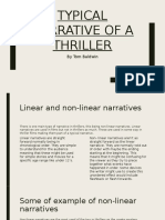 Typical Narrative of a Thriller