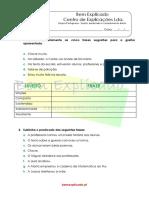 1.11 Ficha Formativa Sujeito Predicado e Complemento Direto 1