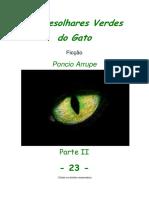 Cap. 23 - OS DESOLHARES VERDES DO GATO, por Pôncio Arrupe