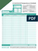 Sensorweb Ficha de Registro Temperatura e Umidade