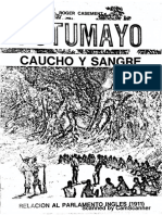 CASEMENT, R. Putumayo, Caucho y Sangre
