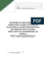 Memorial Descritivo Spda