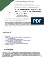Las Aguas en La Estructura Urbana de Santiago de Chile