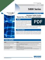 Mass Flow Controller Data Sheet 5800 Series 2