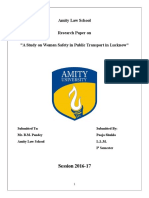 A Study on Women Safety in Public Transport in Lucknow by Pooja Shukla