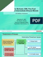Demand for Biofuels e85 Flex Fuel Vehicles and Intermediate Ethanol Blends