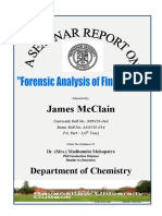 Forensic Analysis of Fingerprints