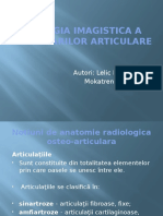 Semiologia Imagistica a Modificarilor Articulare