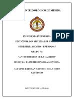 Antecedentes de La Calidad.