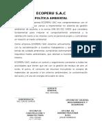 Ecoperu Semana 7 Politicas Ambientales