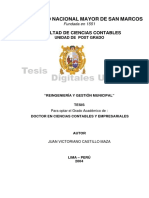 Reingenieria y Gestion Municipal. Tesis Doctoral.