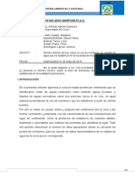 Informe Tecnico Nº 001 Analisis de Agua