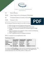 I_Development Memo to CF Board 12.7.12