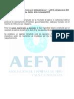 Aefyt Tabla de Tipos Impositivos Sobre Gases Fluorados MARZO 2015