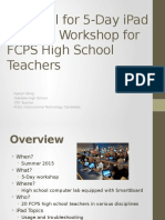 proposal for 5-day ipad training workshop for fcps