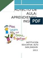 PROYECT DE AULA- APRENDIENDO INGLES.docx