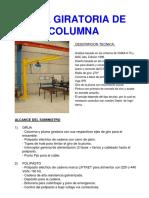 Catalogo de Gruas Giratorias de Columna