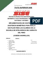 Implementacion de Sistema Biometrico de Huella Dactilar