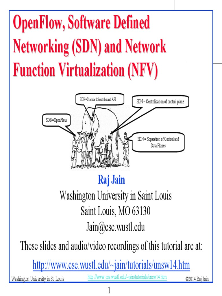 OpenFlow, Software Defined Networking (SDN) and Network