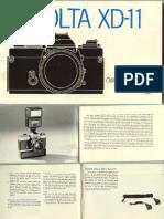Minolta XD Instruction Manual