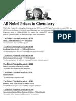 All Nobel Prizes in Chemistry