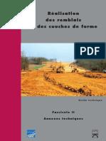 Réalisation Des Remblais Et Des Couches de Forme - Tome 2