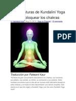 Siete Posturas de Kundalini Yoga Para Desbloquear Los Chakras