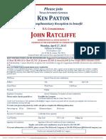 Reception for John Ratcliffe