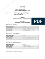 Descomposicion Articulos 109 a 205 Codigo Penal Boliviano