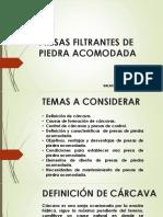 Presas Filtrantes de Piedra Acomodada - Jimmy Salas
