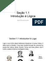 2016 - Section 1.1 - Introdução à Lógica