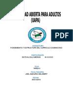 Tarea II. de Fundamento Estrutural Del Curriculo Dominicano